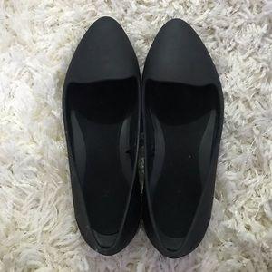 Black flat Crocs - Size 7W
